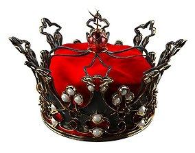3D asset VR / AR ready Queens Crown