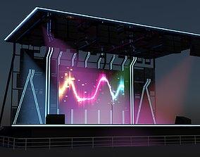 Concert Stage Modern 3D model
