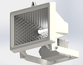 Flood Light and Movement Sensor 3D