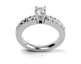 Riviera Pave Diamond Engagement Ring 3D print model