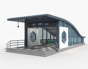 3D Subway Entrance 1