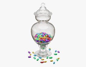 Jar with jelly beans 03 3D