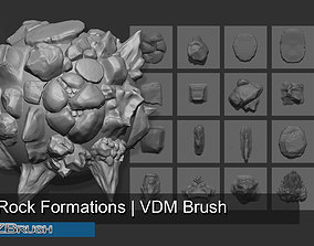 3D 20 Arid Rock Formations 01 - Zbrush VDM