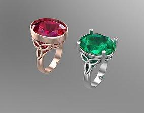 Oval diamond rings NN138 3D printable model