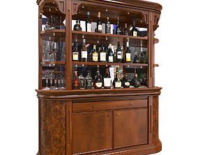 3D Display Cabinet Classic Style 3