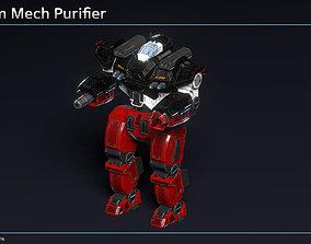 3D model animated Medium Mech Purifier