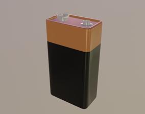 3D asset 9 Volt Battery