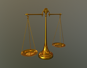 Antique balance Scale 3D model high poly no subdivision