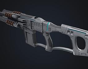 3D model Sci fi blaster