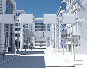 3D HD City Street Scene