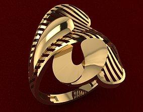 RING 75 silver 3D print model