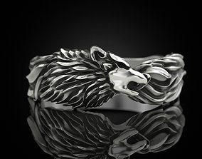 3D printable model Wolf band ring