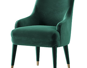 3D model M69 Tufted Armchair In Velvet