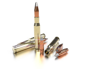 Cal 50 BMG Cartridge 3D model