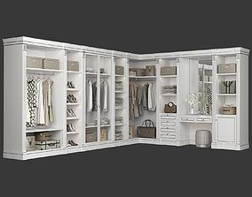 3D model Classic Walk-in closet 91