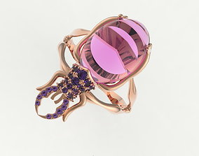 3D printable model Beetle ring jewelry insect
