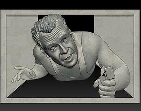 Portrait STL bas-relief Die Hard 3D printable model