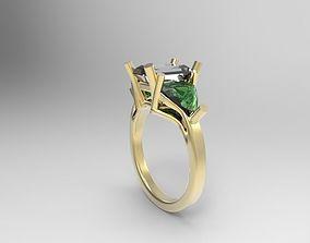 3D printable model ring radiant