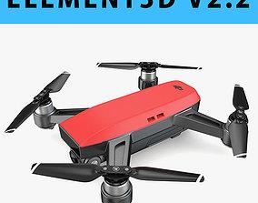 E3D - DJI Spark Mini Drone 2017 3D model