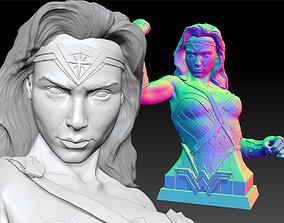 3D printable model sculpture Wonder Woman Gal Gadot Bust