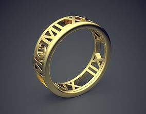 3D printable model Classic Golden Engagement Ring 3