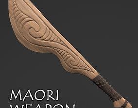 Maori Wooden Weapon - Wahaika 3D model