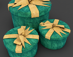 Gift box ribbon 3D model