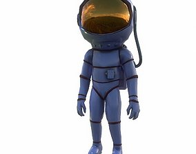 woman astronaut 3D asset animated