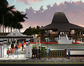 3D model Indonesia vernacular house in province of