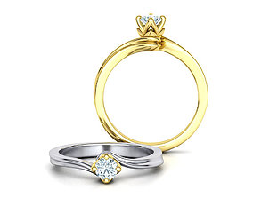 Paradise Solitaire Ring Four-Prong Setting 4mm Stone 1
