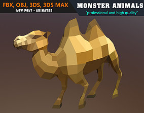 animated Low Poly Camel Cartoon 3D Model Animated - Game