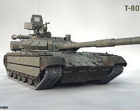 3D model PBR T-80 BVM