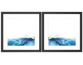 Art Frams 104- Teal Marble 2 3D model