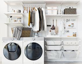 3D model IKEA wall module Algot 13 washing machine Laundry