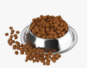 animals 3D Stainless Steel Dog Bowl with food