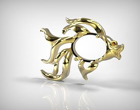 Jewelry Part Golden Fish Shape 3D print model