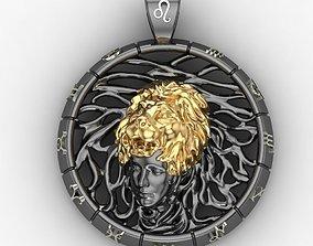 Leo zodiac sign pendant 3D print model