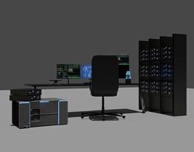 3D model Sci fi setup - computer