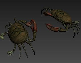 crab 3d model game-ready