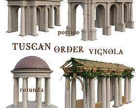 Tuscan Order Vignola 3D model