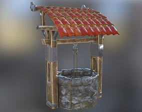 architectural Old well 3D asset game-ready