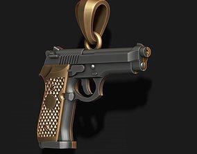 Gun pendant 3D wheeler