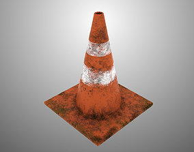 Dirty Traffic Cone 3D model