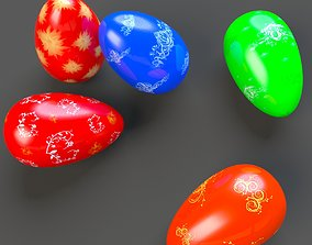 Easter Eggs 3D asset low-poly