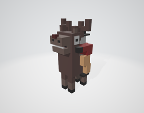 Cross a Road type game Reindeer - Baby Rudolph 3D asset