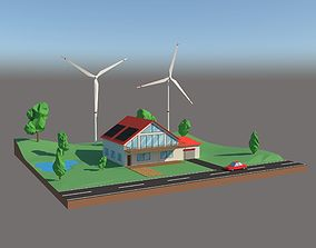 3D model Alternative Energy Cartoon