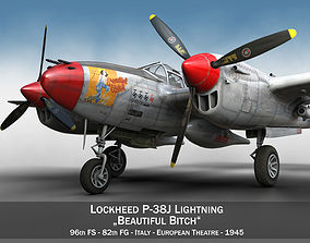 Lockheed P-38 Lightning - Beautiful Bitch 3D