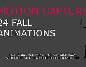 animated Fall motion capture for 3D model