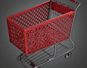 SAM - Shopping Cart 02 - PBR Game Ready 3D model