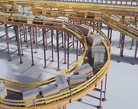 Conveyor Belt Scene and Constructor 3D model